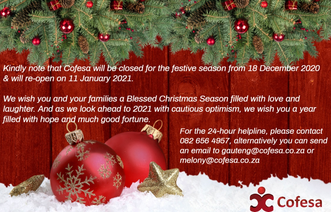 Festive season notice